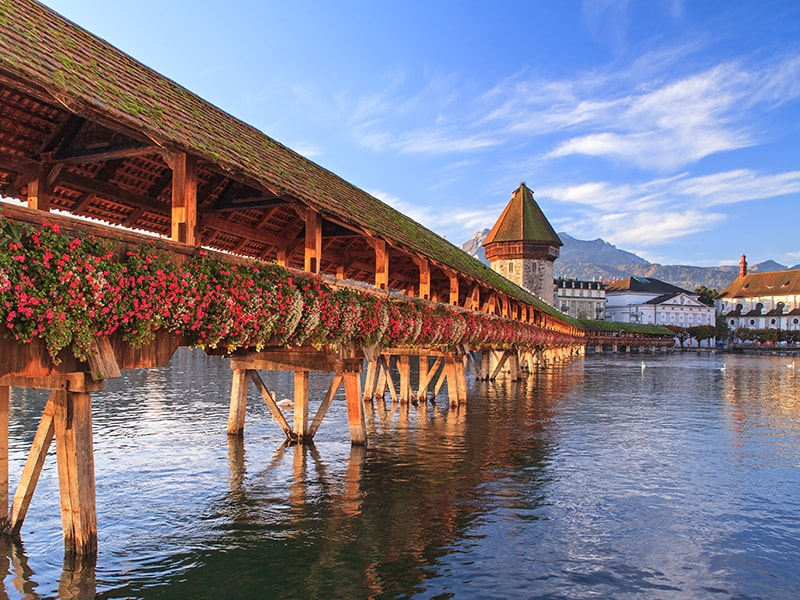 Suiza. KAPPELBRUKKE