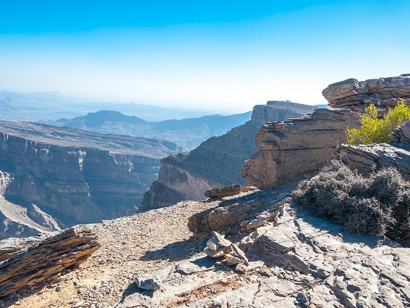 Omán. Recorrer el impresionante desfiladero de Jebel Akhdar