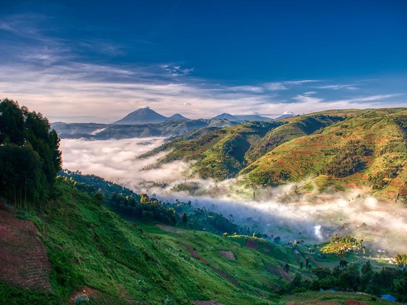 Ruanda/Uganda. Ascenso a los volcanes Virunga, Muhavura, Mgahinga o Sabinyo