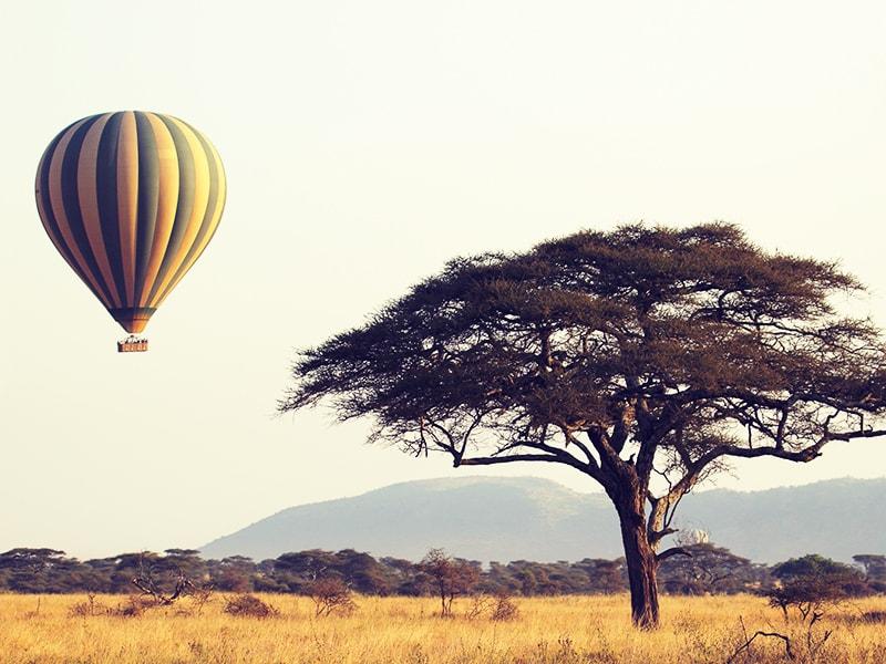 Tanzania. Sobrevuelo en globo
