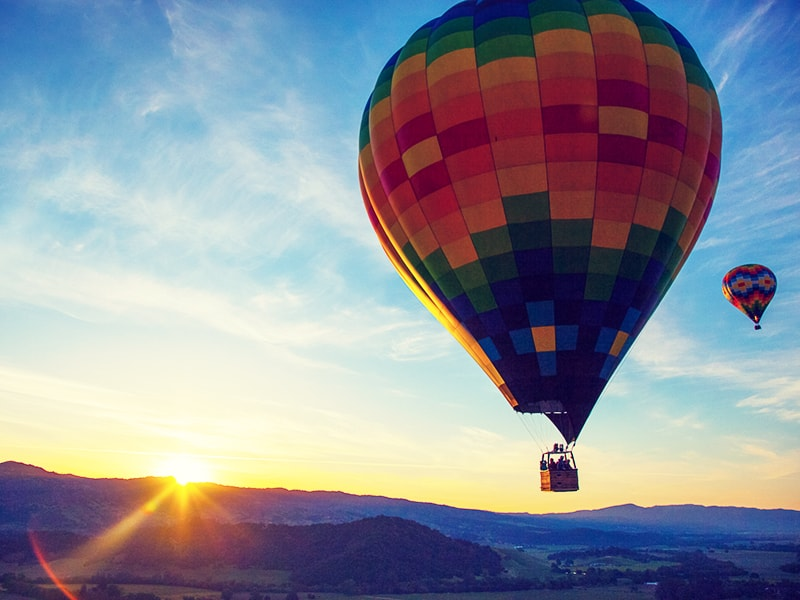 Estados Unidos. Paseo en globo al amanecer por el Valle de Napa